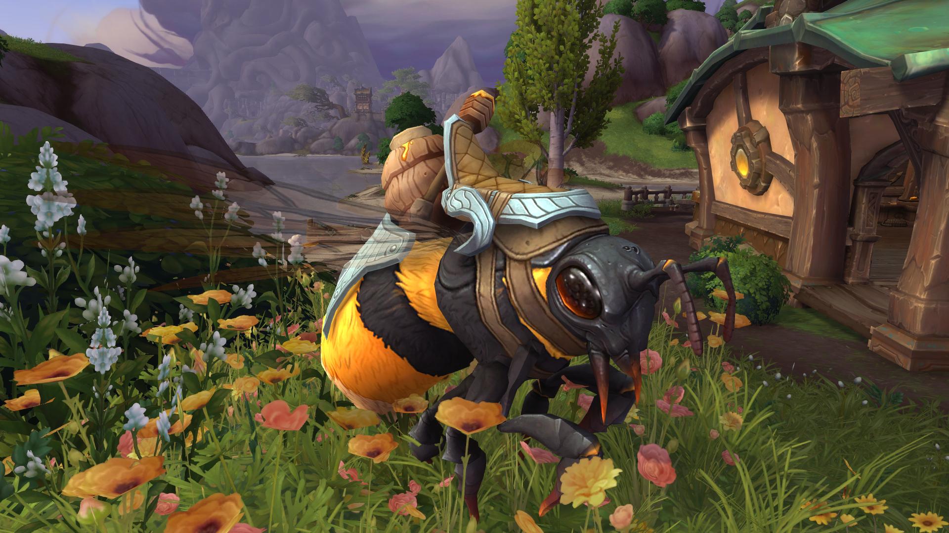 La monture Butineuse dos-de-miel, semblable à celle du Maître de vol à la Vallée Chantorage, peut être débloquée