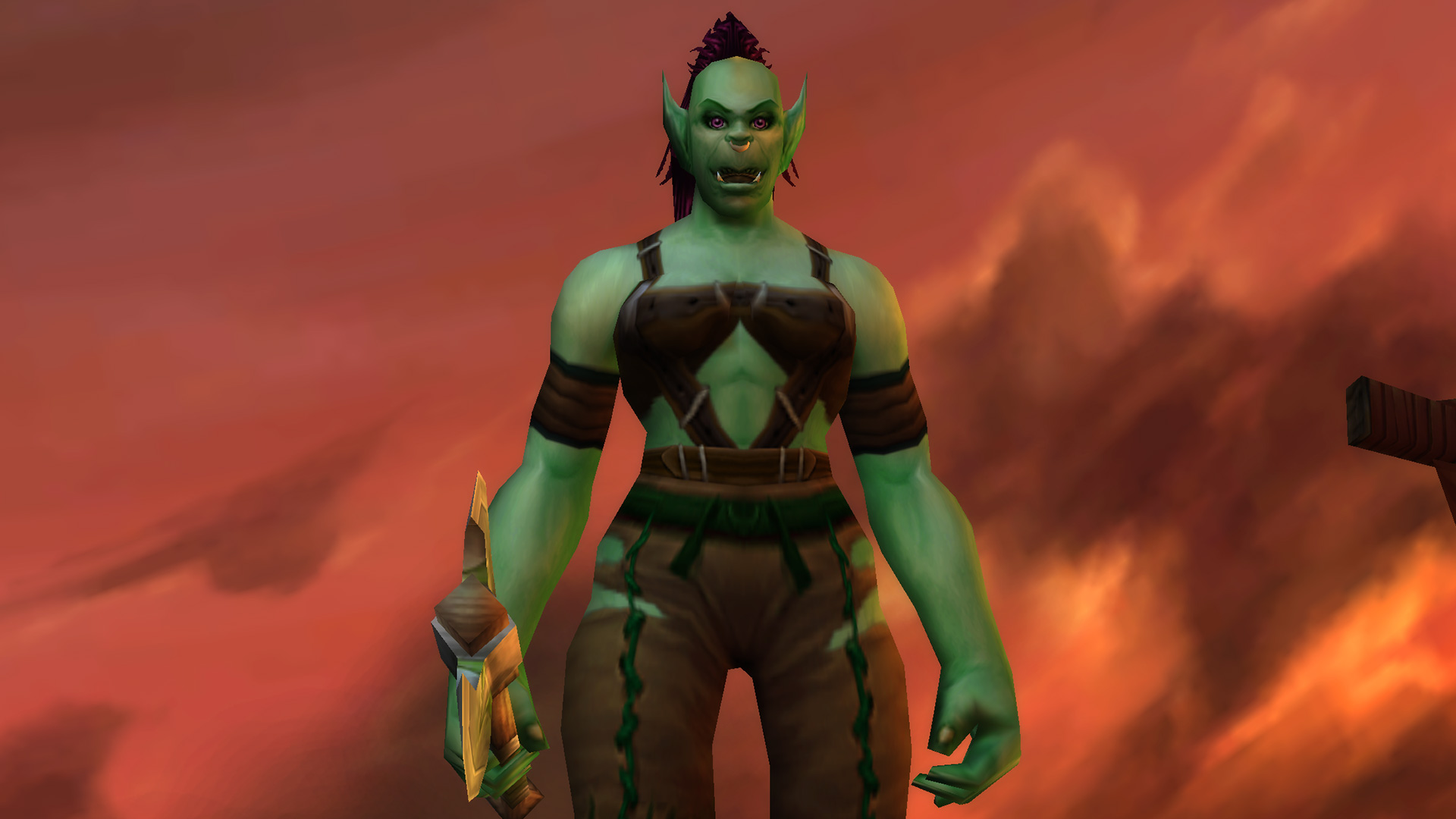 Modèle de femme Orc