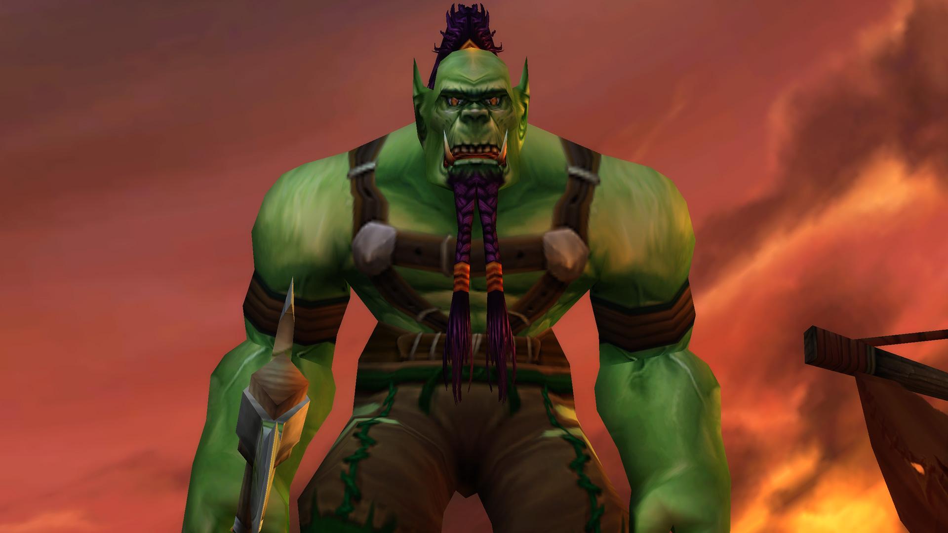 Modèle d'homme Orc