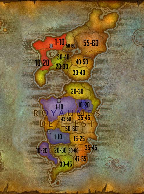 Carte de leveling Royaumes de l'Est