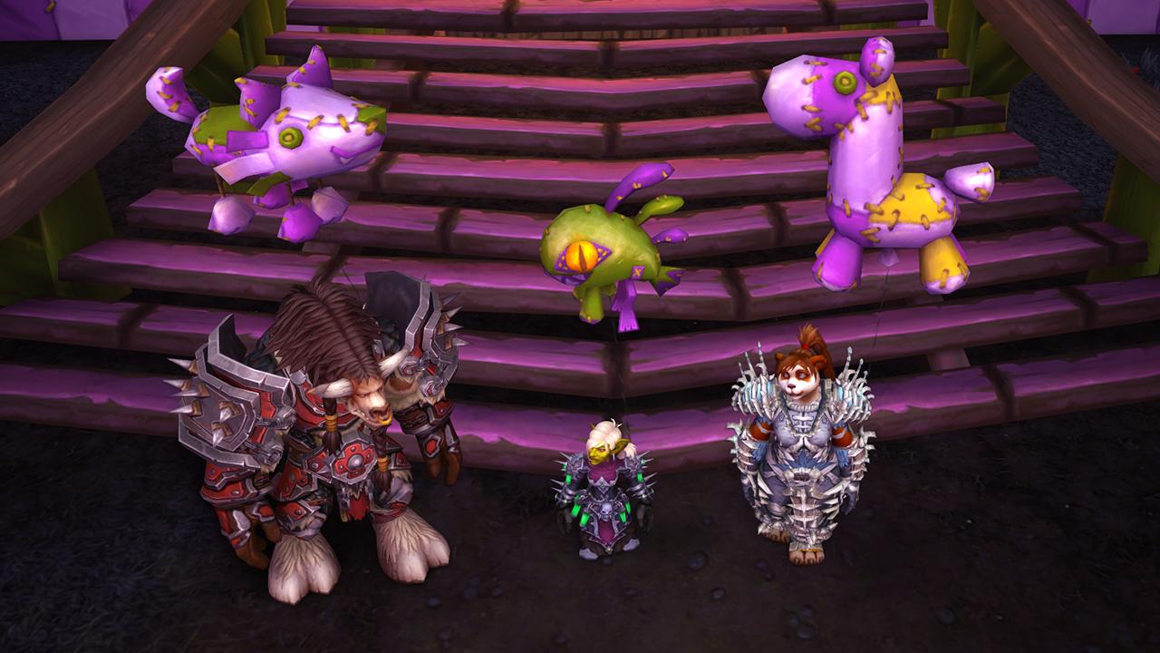 3 nouvelles mascottes : un loup, un murloc et un ballon disponibles à la Foire de Sombrelune