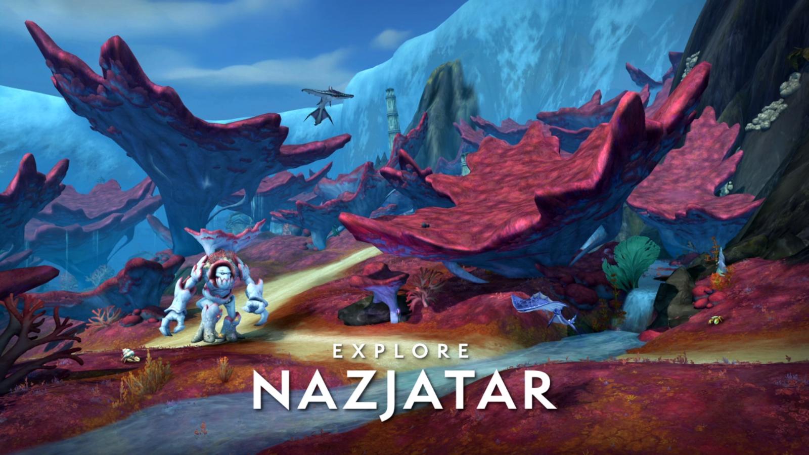 Nazjatar est une des deux nouvelles zones du patch 8.2
