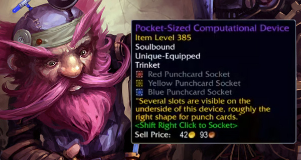 patch 8.2 : instrument de calcul de poche le bijou personnalisable
