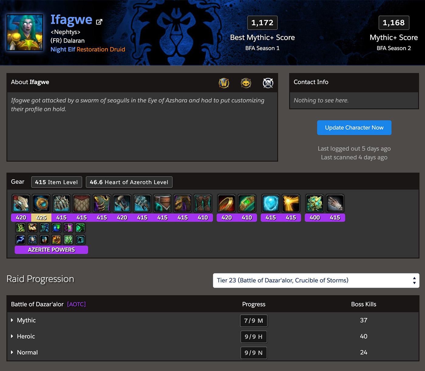 Raider IO est un site qui vous confère un score en fonction de vos performances