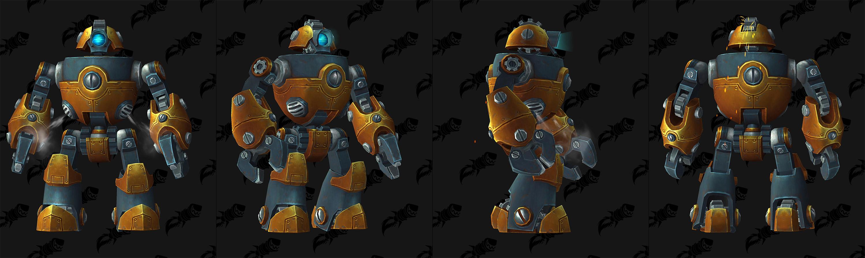 Modèle de robot gnome au patch 8.2