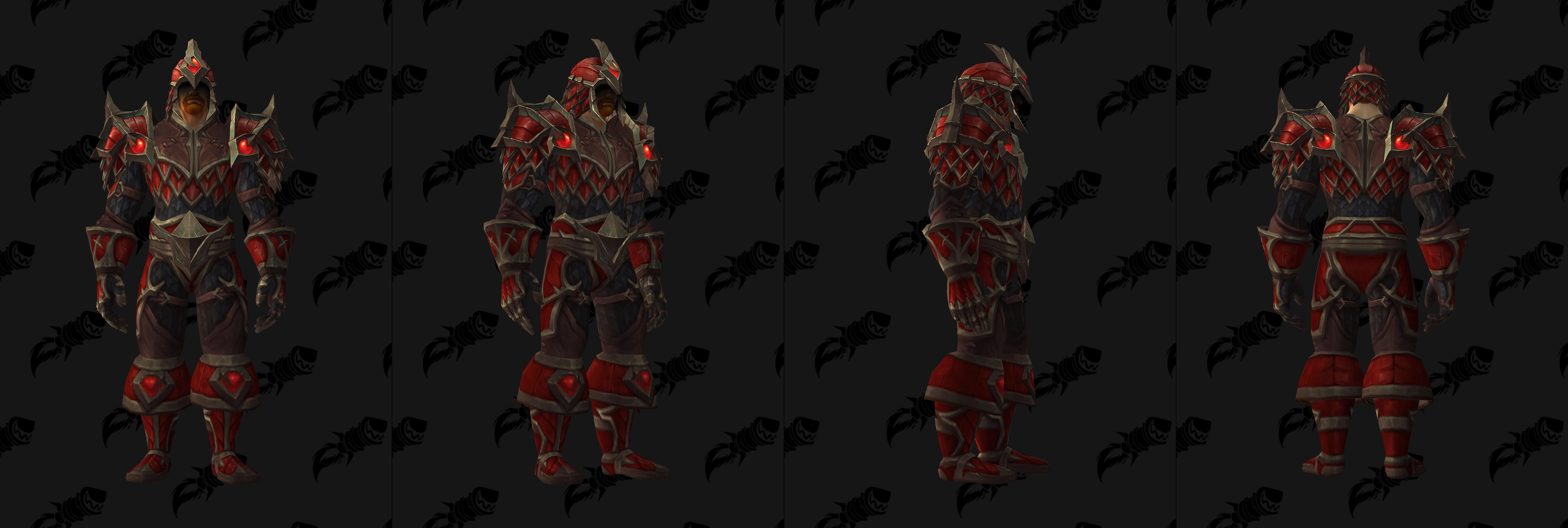 Set d'armure Gladiateur en mailles (Horde)
