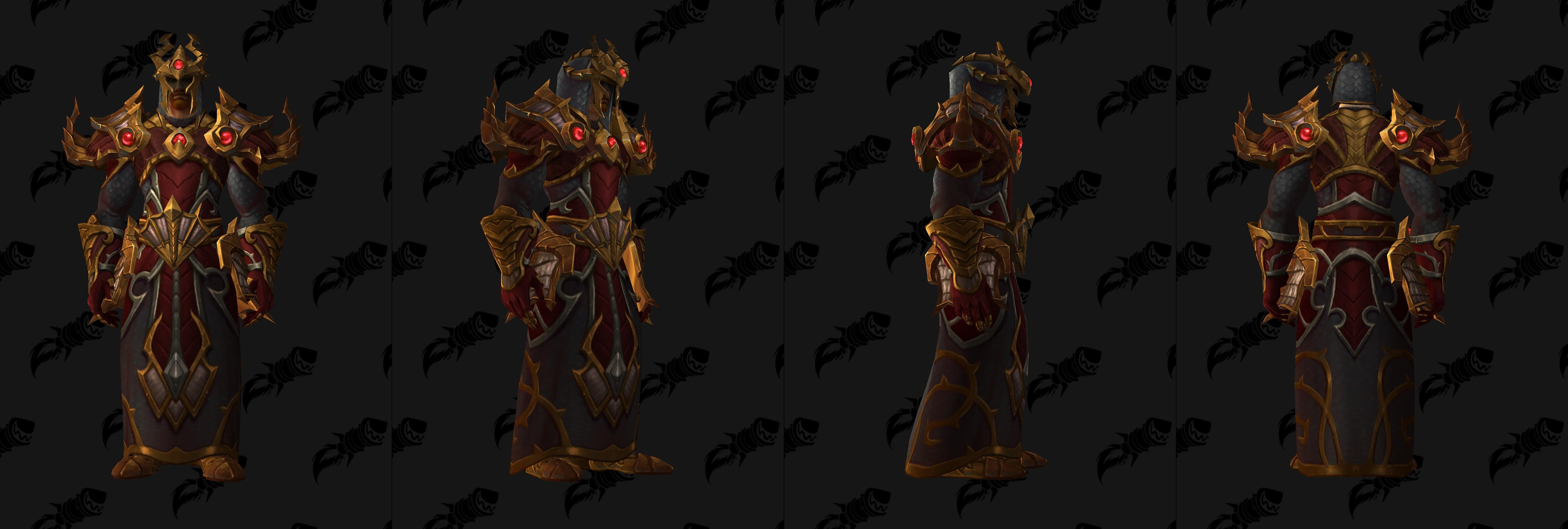 Set d'armure Gladiateur en tissu (Horde)