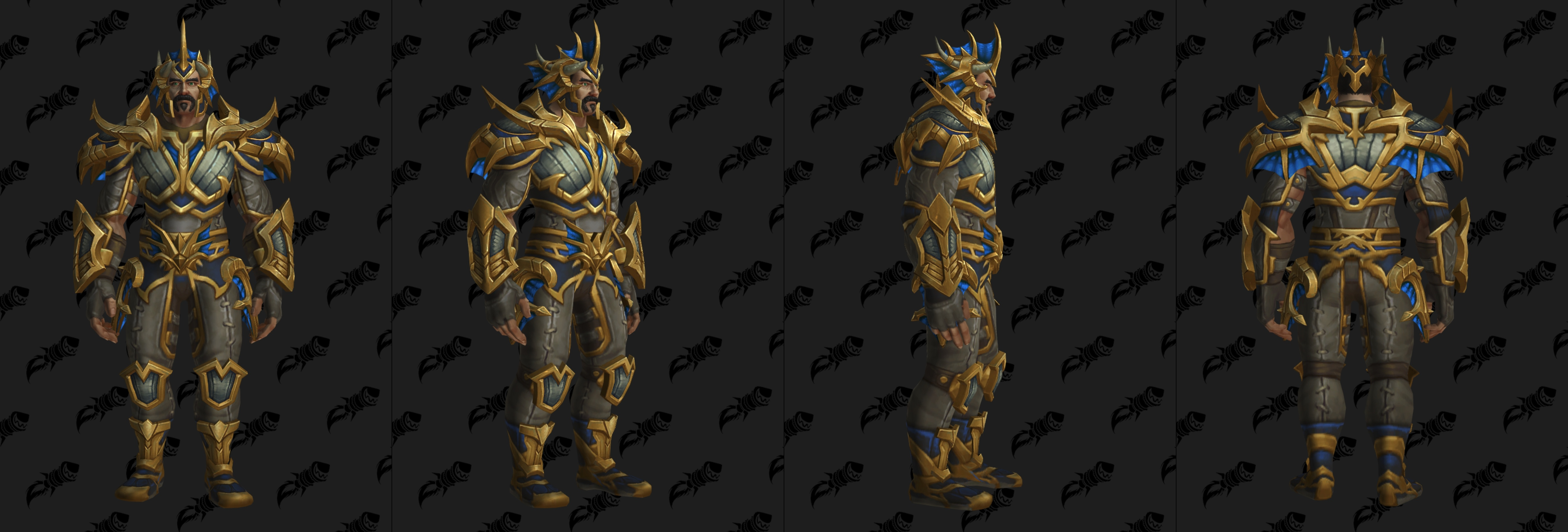 Set d'armure Gladiateur en cuir (Alliance)