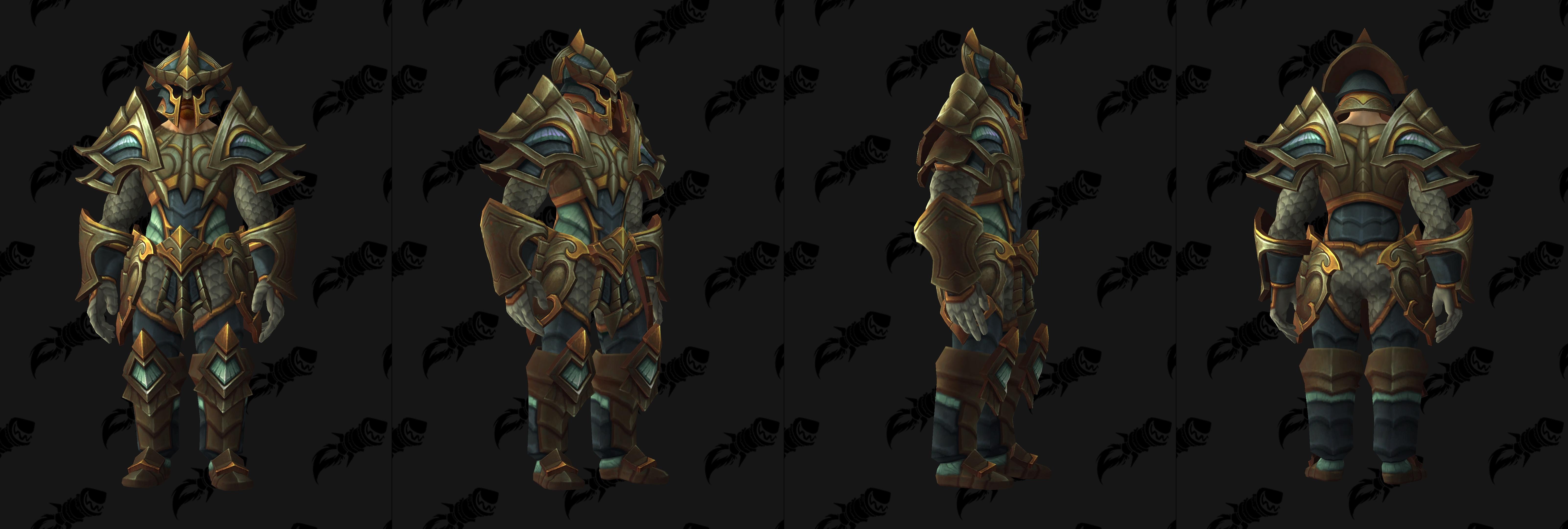 Set d'armure Gladiateur en plaque (Alliance)