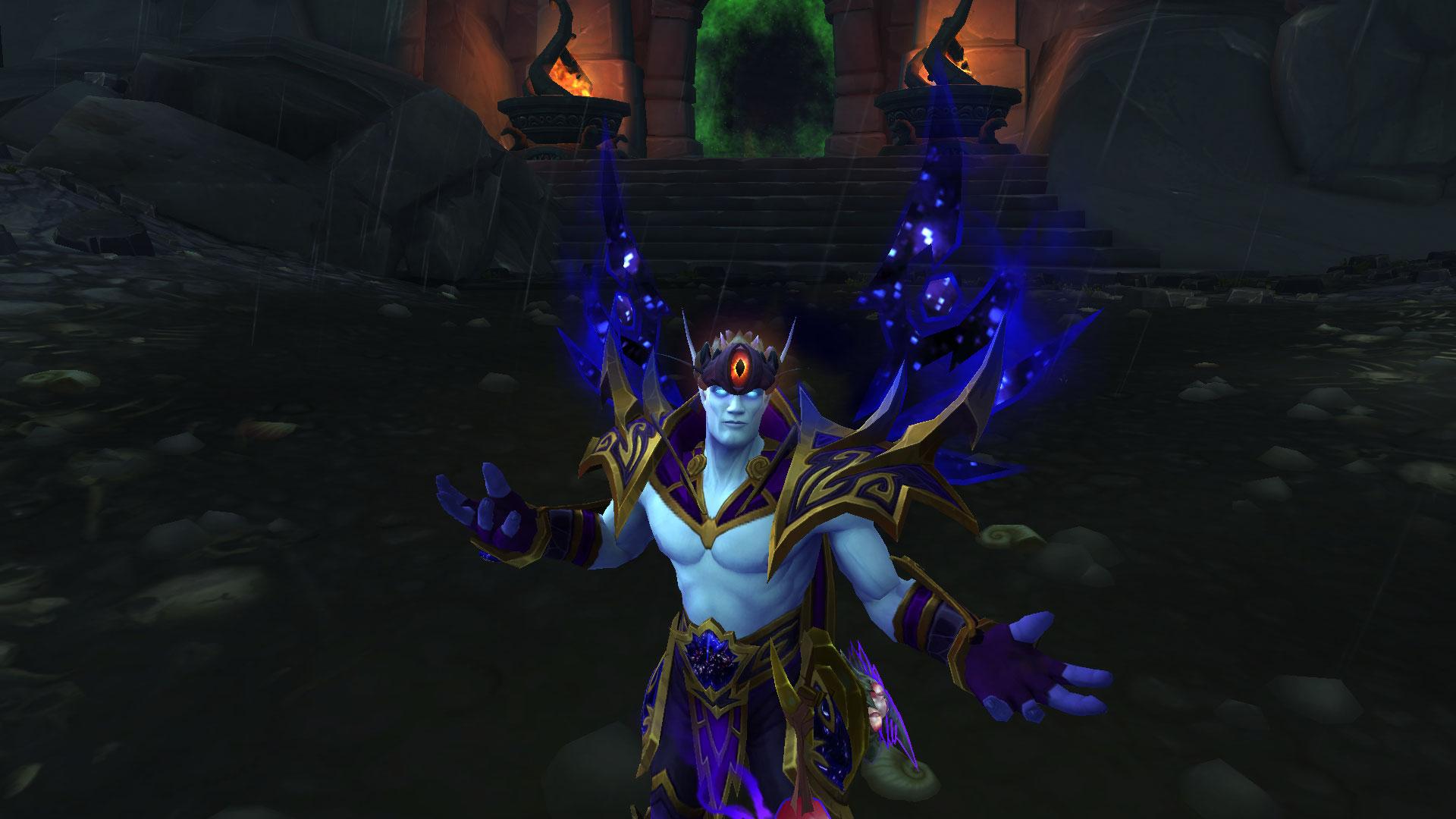 Le don de N'Zoth, un effet visuel sur la tête des personnages