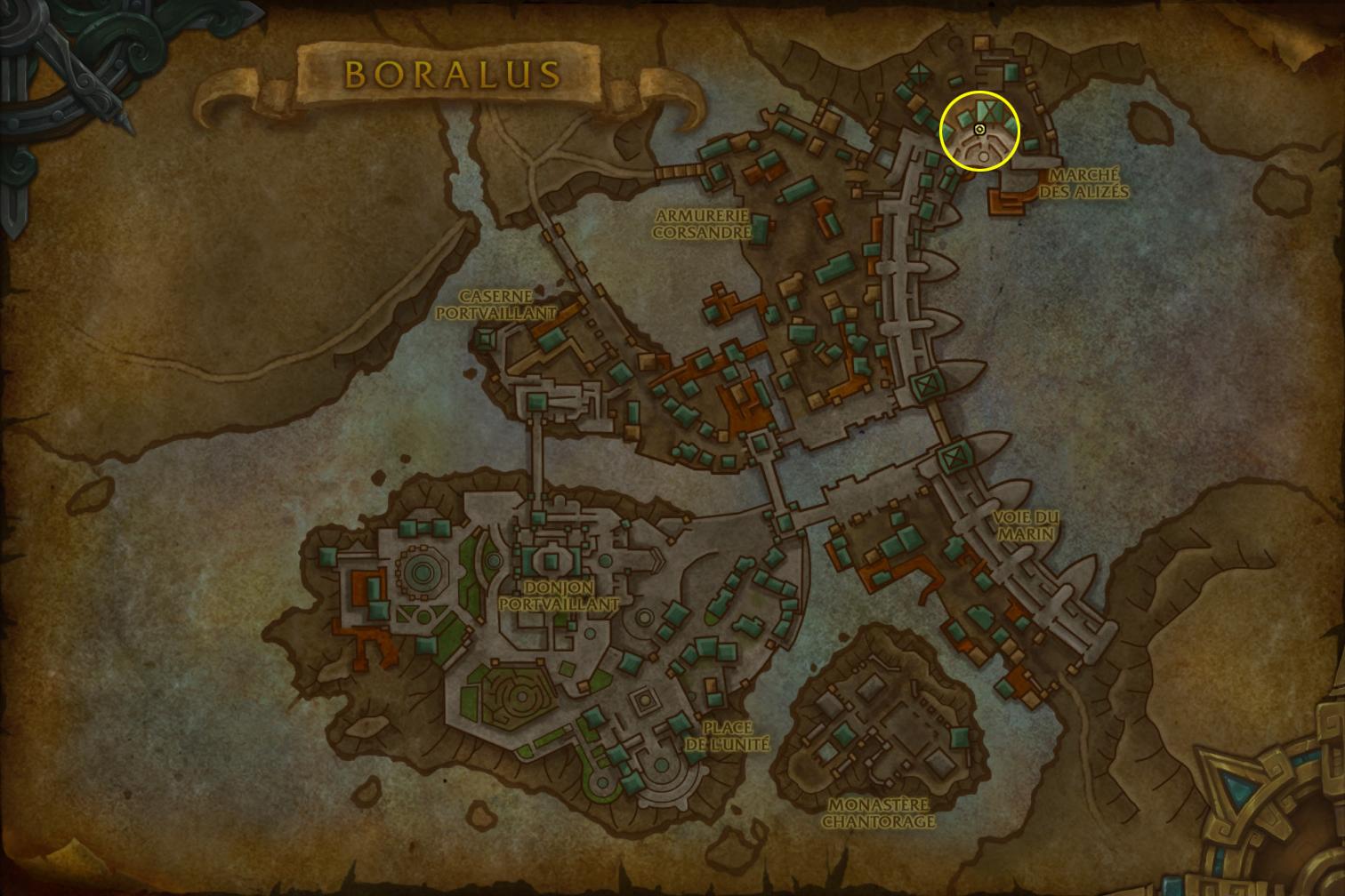 Les joueurs de l'Alliance doivent se rendre à Boralus