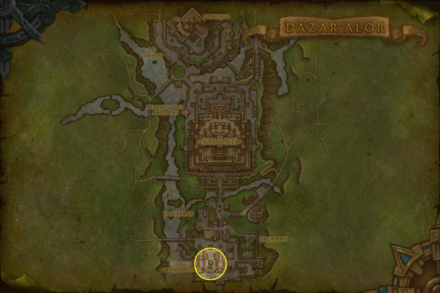 Les joueurs de la Horde doivent se rendre à Zuldazar