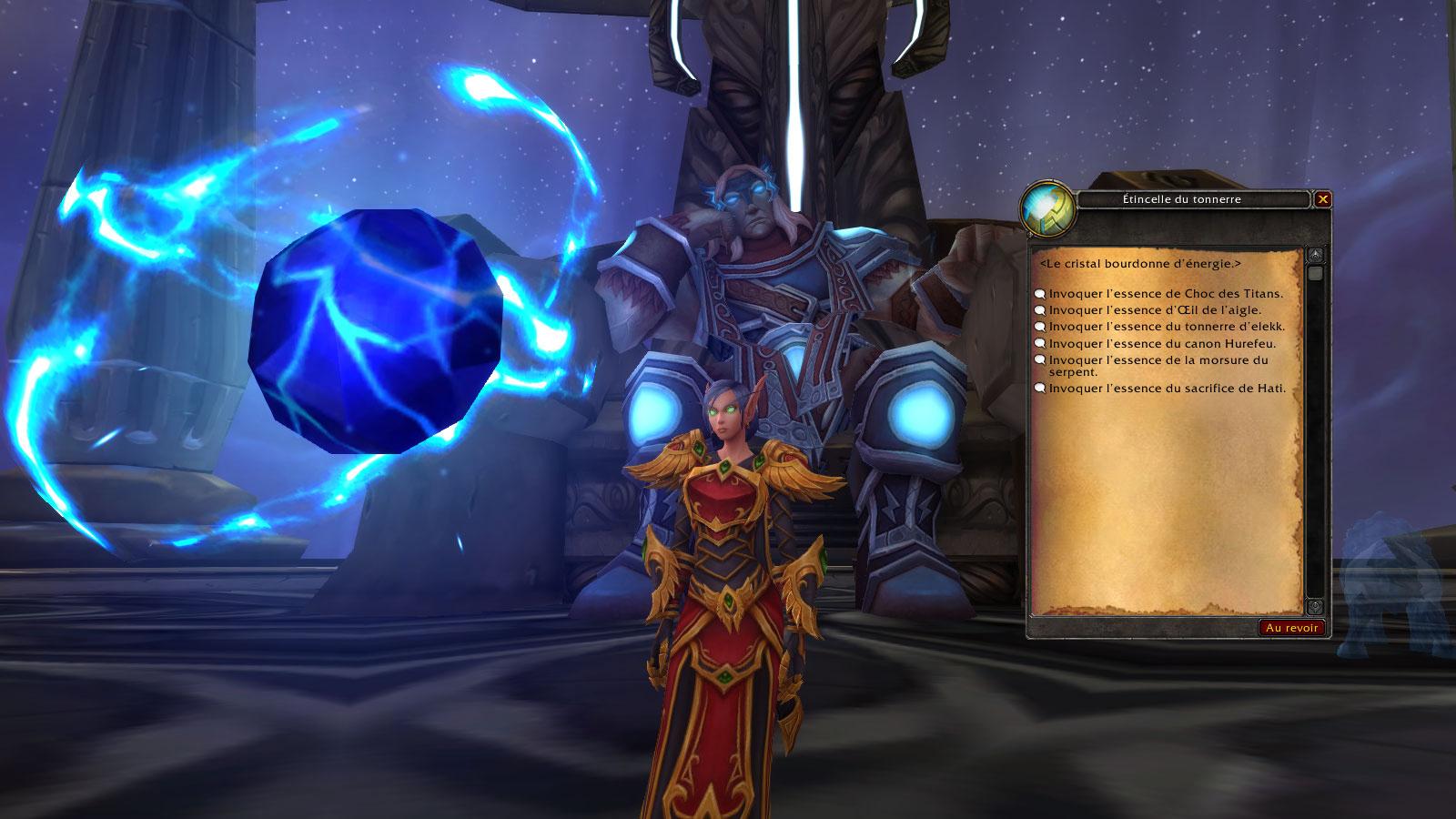 Vous pouvez choisir l'apparence de Hati au Temple des tempêtes