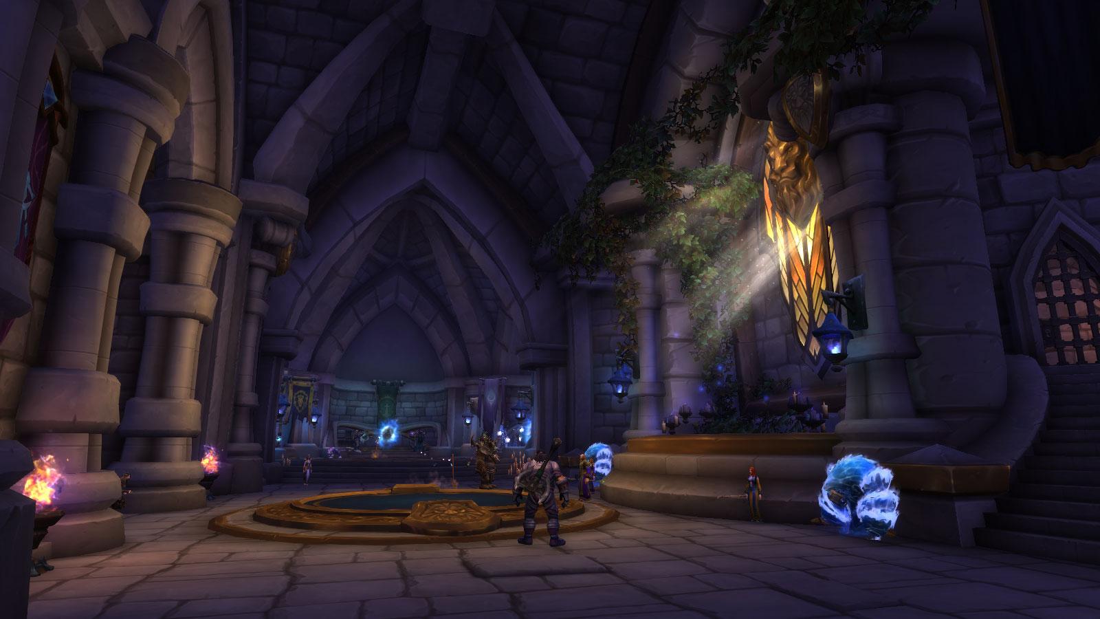 Salle des portails à Hurlevent