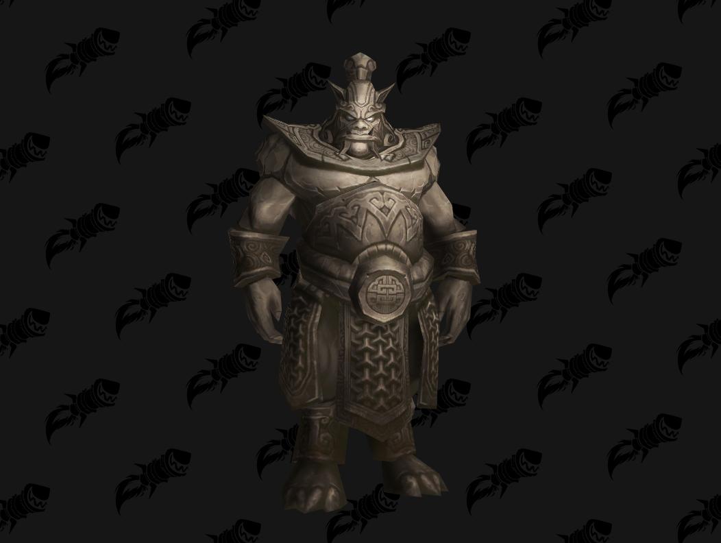Statue mogu, mascotte de BFA qui s'obtient dans les Caveaux de Mogu'shan