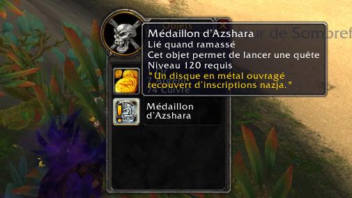 Le médaillon d'Azshara lance la suite de quêtes du Creuset des Tempêtes