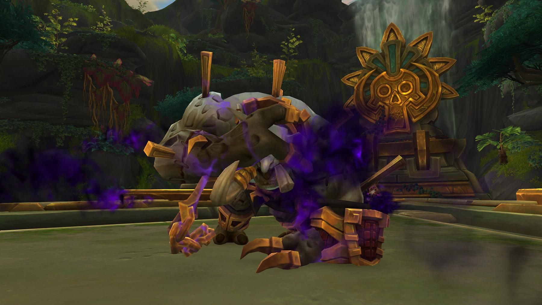 Détruisez simultanément les 3 totems qui empêche la décomposition de Vol'kaal
