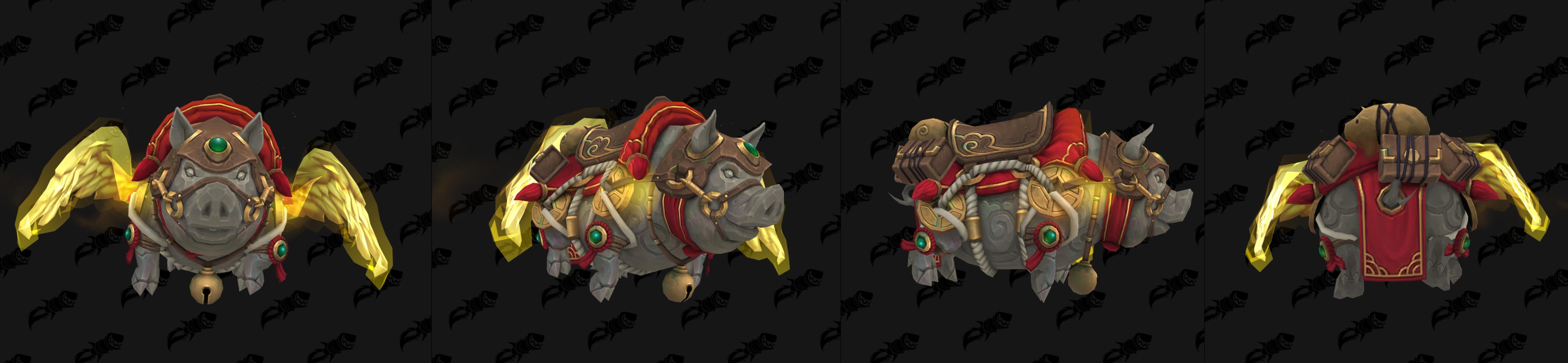 Gorus, cochon porte-bonheur monture liée à la boutique Blizzard