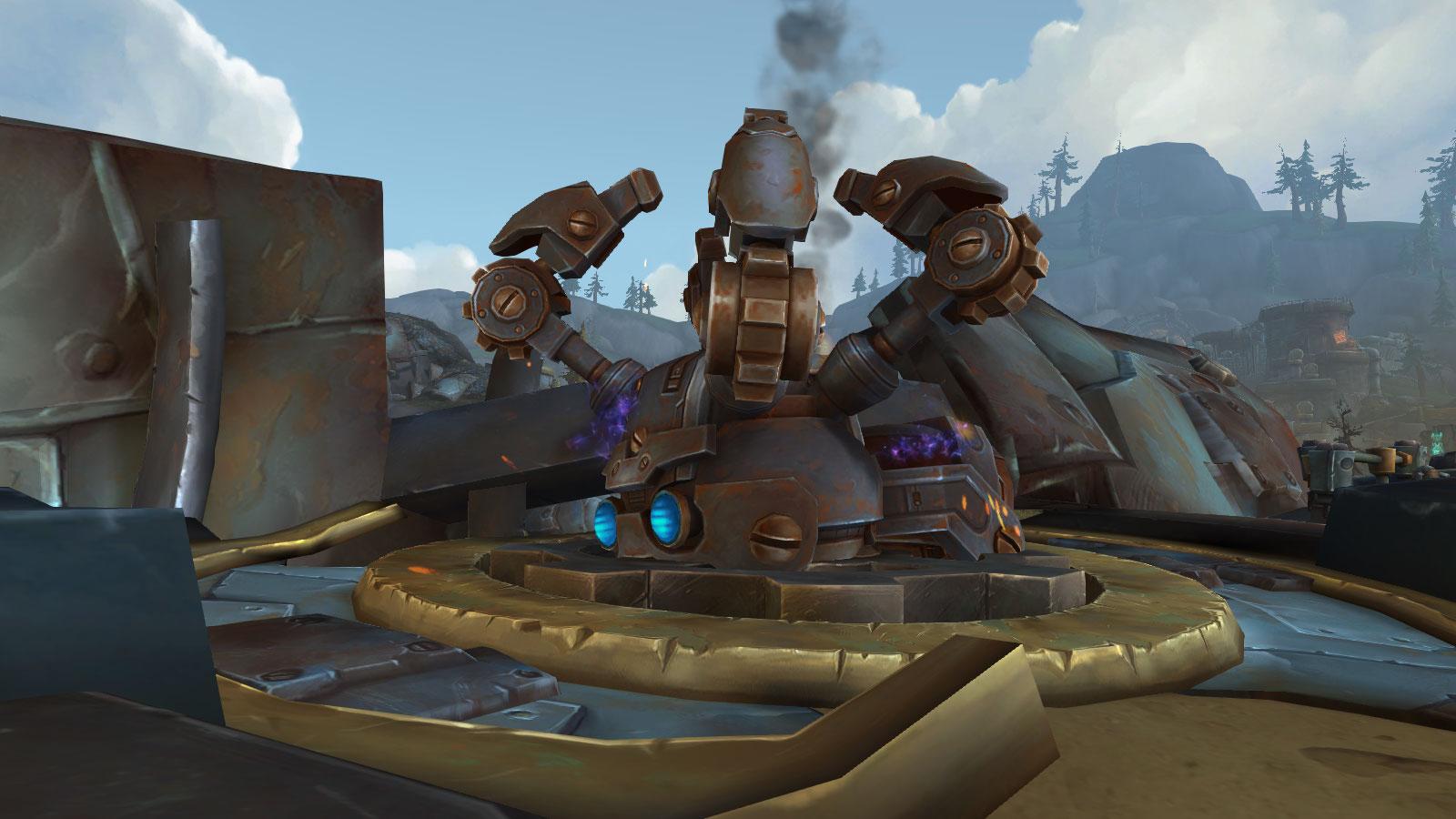 Réparez le char araignée pour obtenir la monture