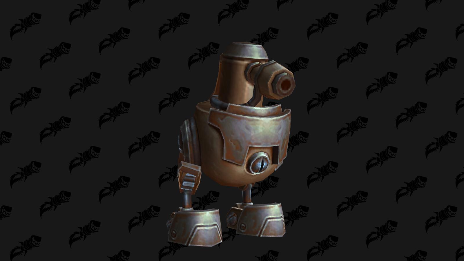 Pulvérobot 0D, mascotte de BFA qui s'obtient à Mécagone