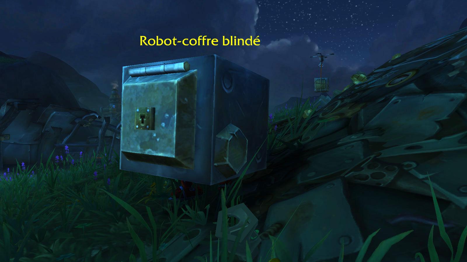 Robot-coffre blindé, mascotte de BFA peut être trouvé à Mécagone