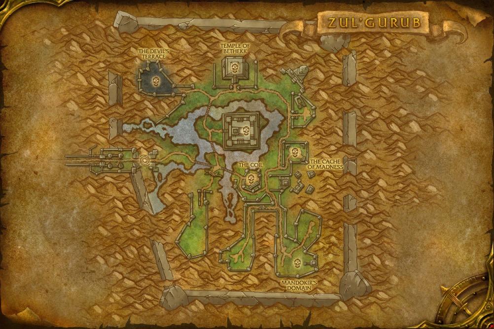 Map de Zul'Gurub (version non instanciée)