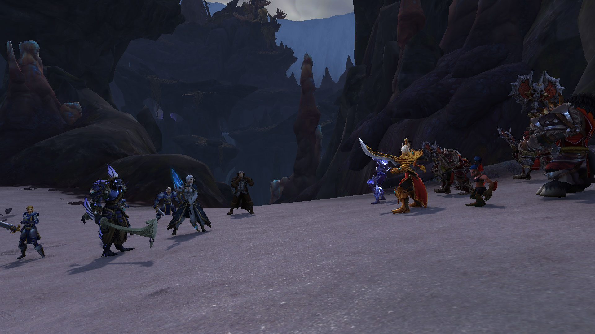 L'Alliance rencontre la Horde au moment d'attaquer les forces d'Azshara