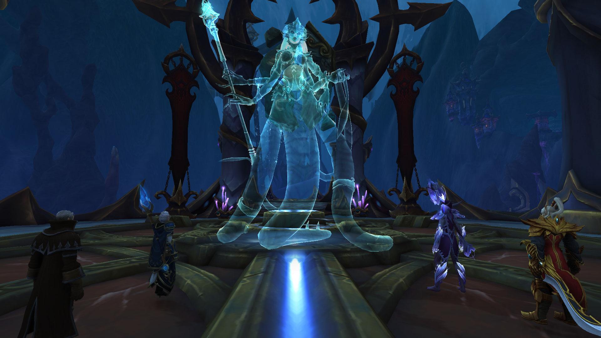 Azshara attend l'Alliance et la Horde dans son Palais Éternel