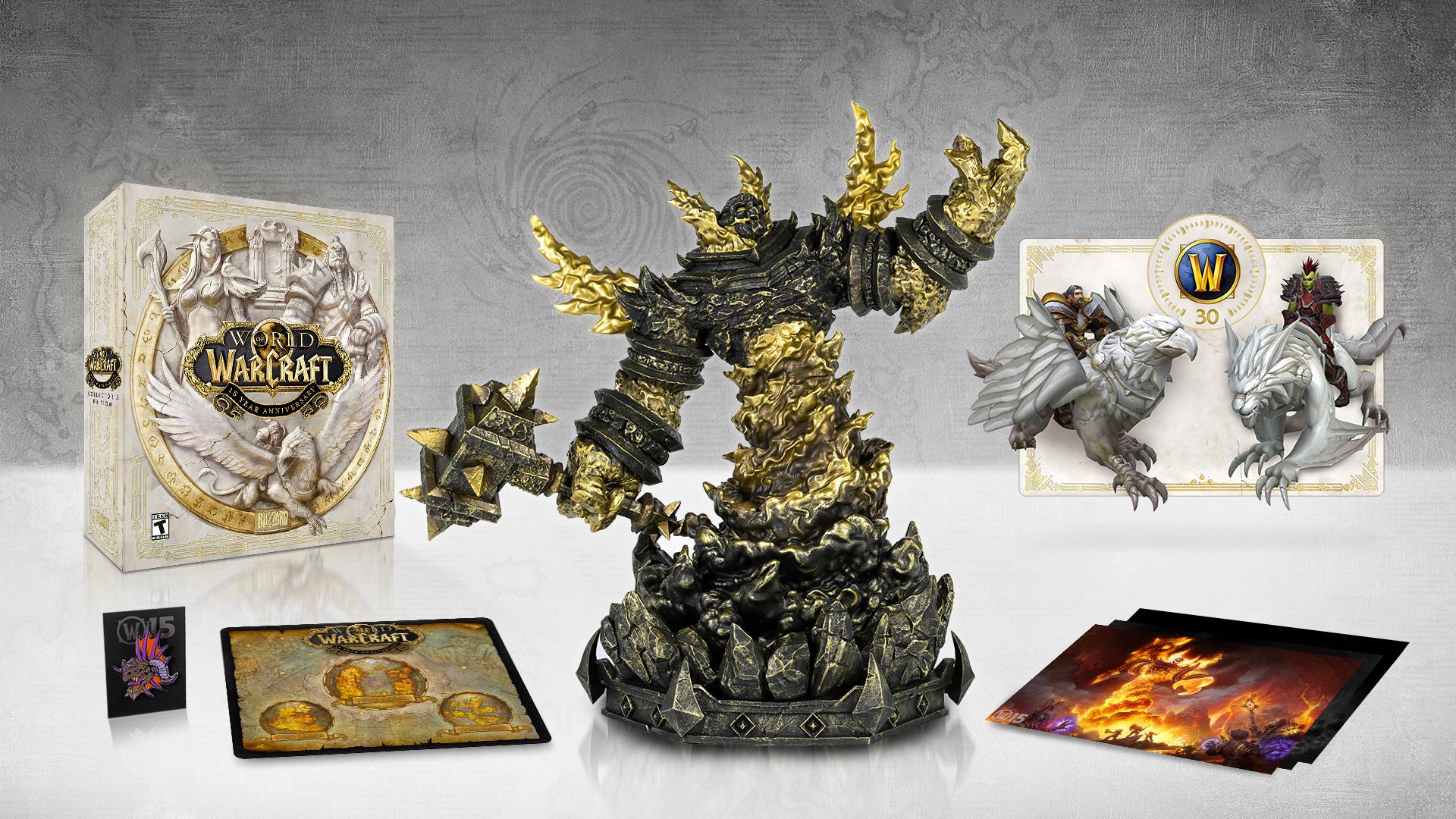 La collector anniversaire de WoW contient une imposante statue de Ragnaros