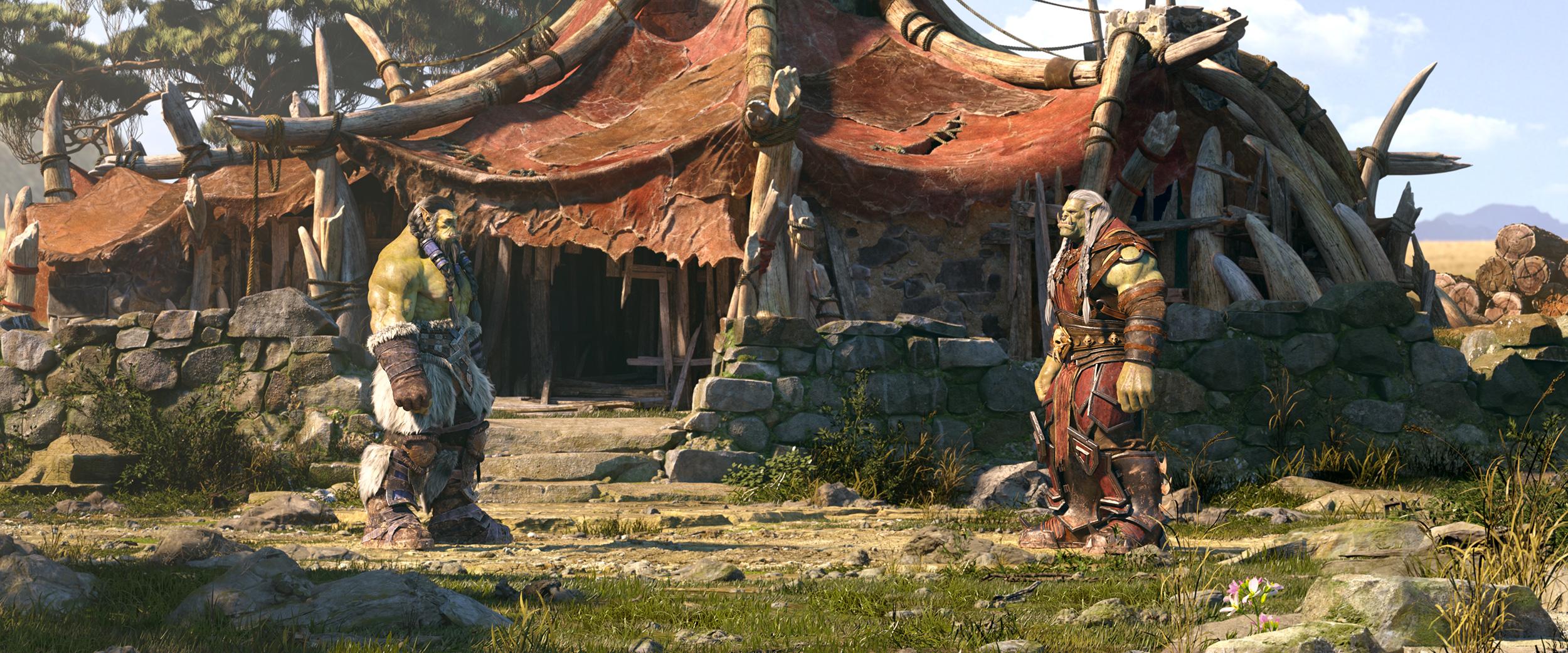 Saurcroc informe Thrall de la situation de la Horde