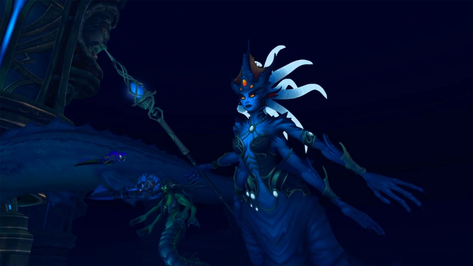 La Reine Azshara est le boss final du raid Palais Éternel
