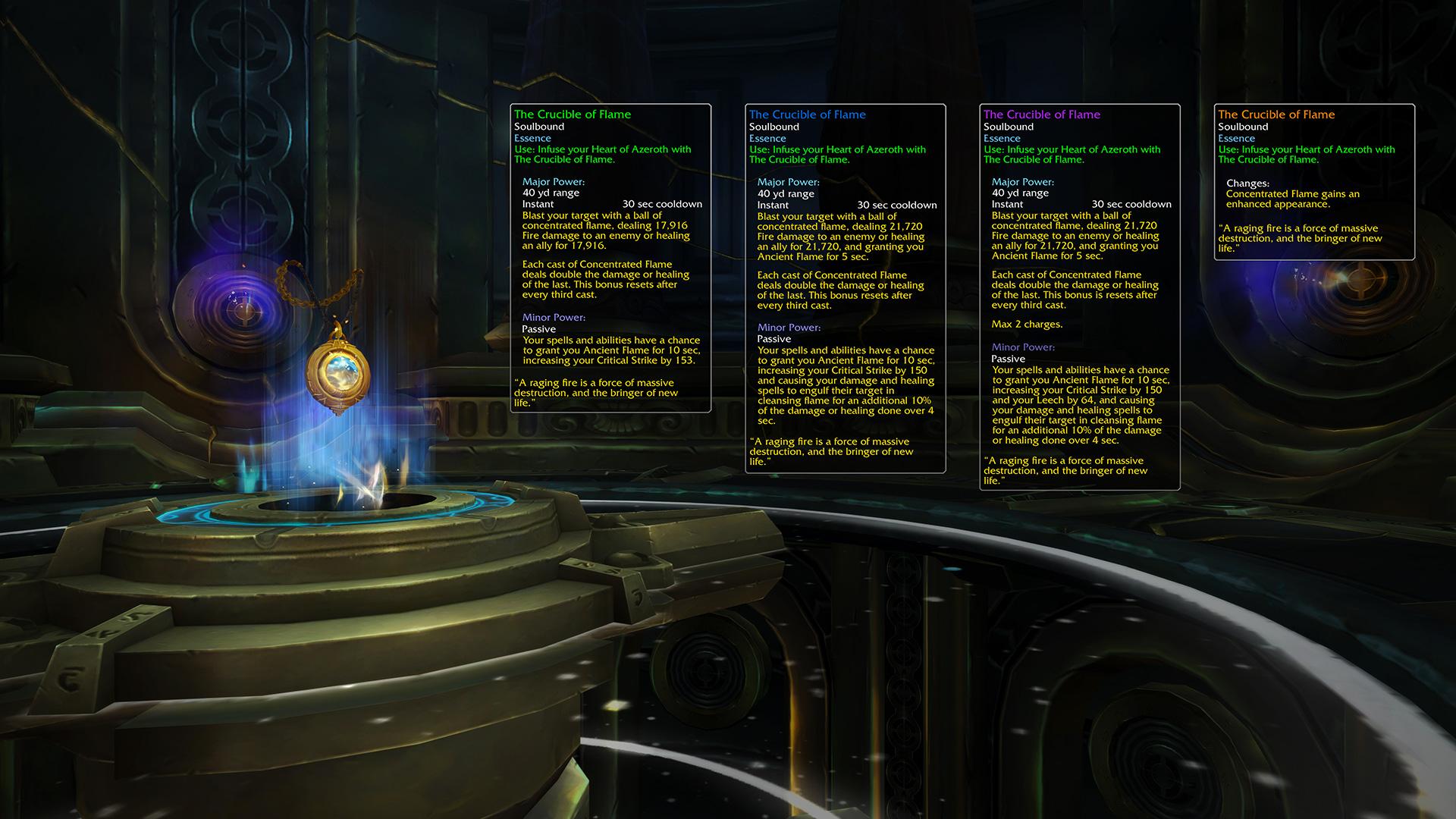 Le coeur d'Azeroth dispose d'un tout nouveau système de progression au patch 8.2