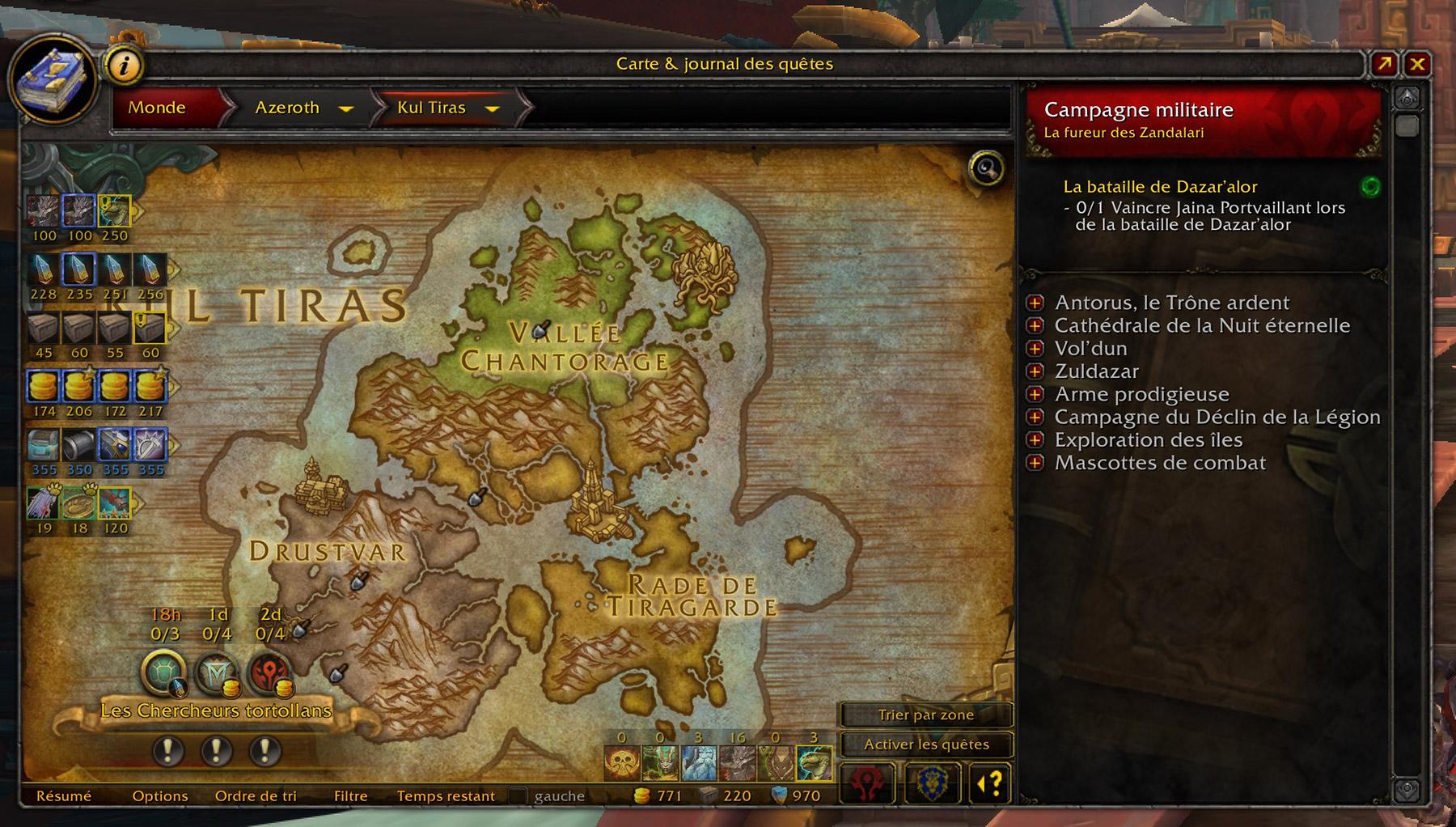 World Quest Tracker permet de suivre les expéditions directement sur la carte du monde