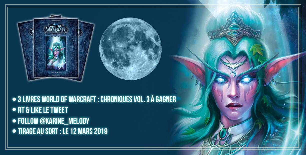 3 livres World of Warcraft Chroniques vol. 3 à gagner sur Twitter
