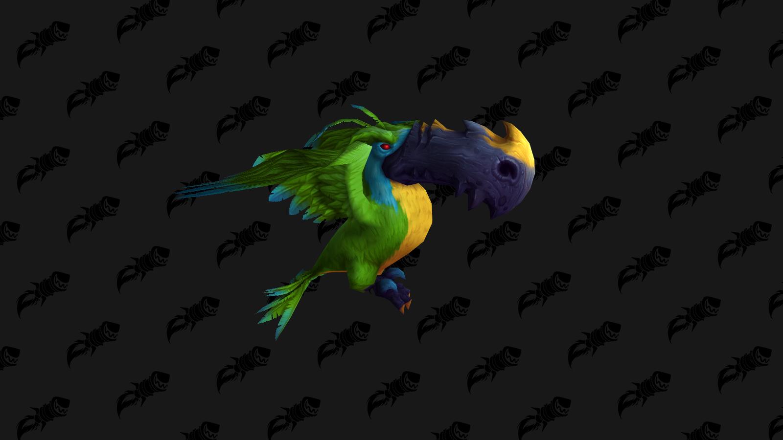 Perculia's Peculiar Parrot figure dans les fichiers comme une mascotte de BFA
