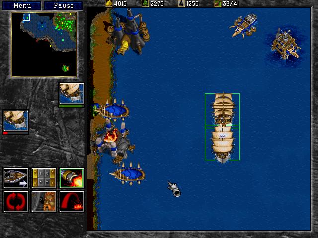 Dans Warcraft II, il faudra lever l'ancre pour vous assurer la victoire…