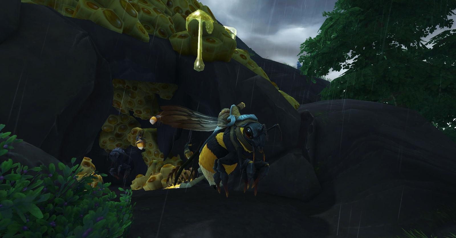 Obtenez la monture en validant la quête Quitter la ruche