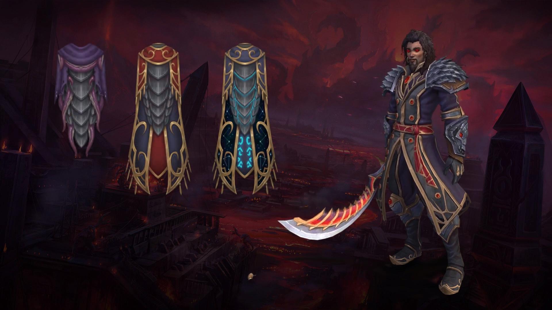 La cape légendaire Ashjra'kamas, voile de détermination, peut être améliorée tout au long du patch 8.3