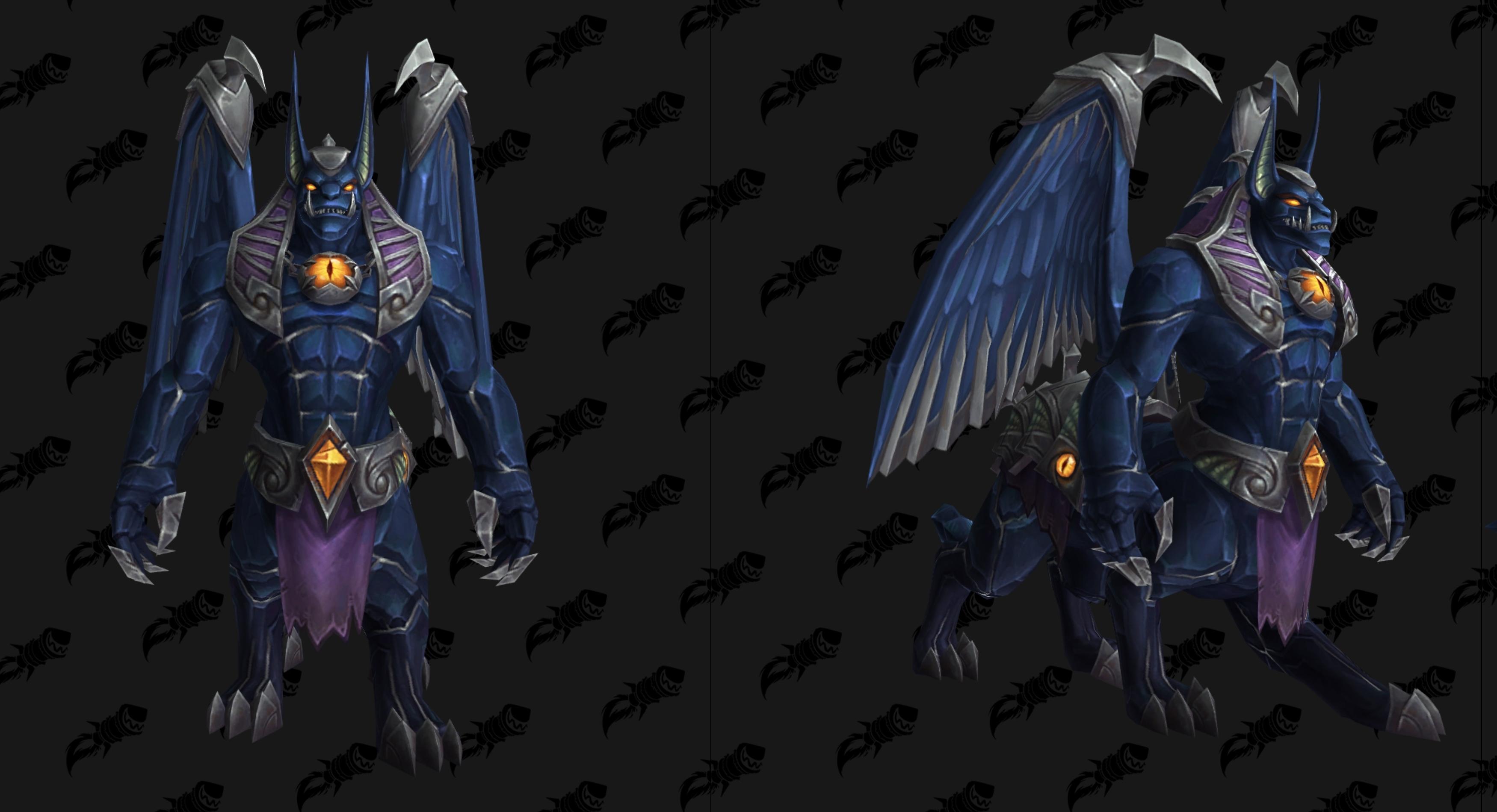 Nouveau modèle de Destructeur d'Obsidienne bleu au patch 8.3 de BFA