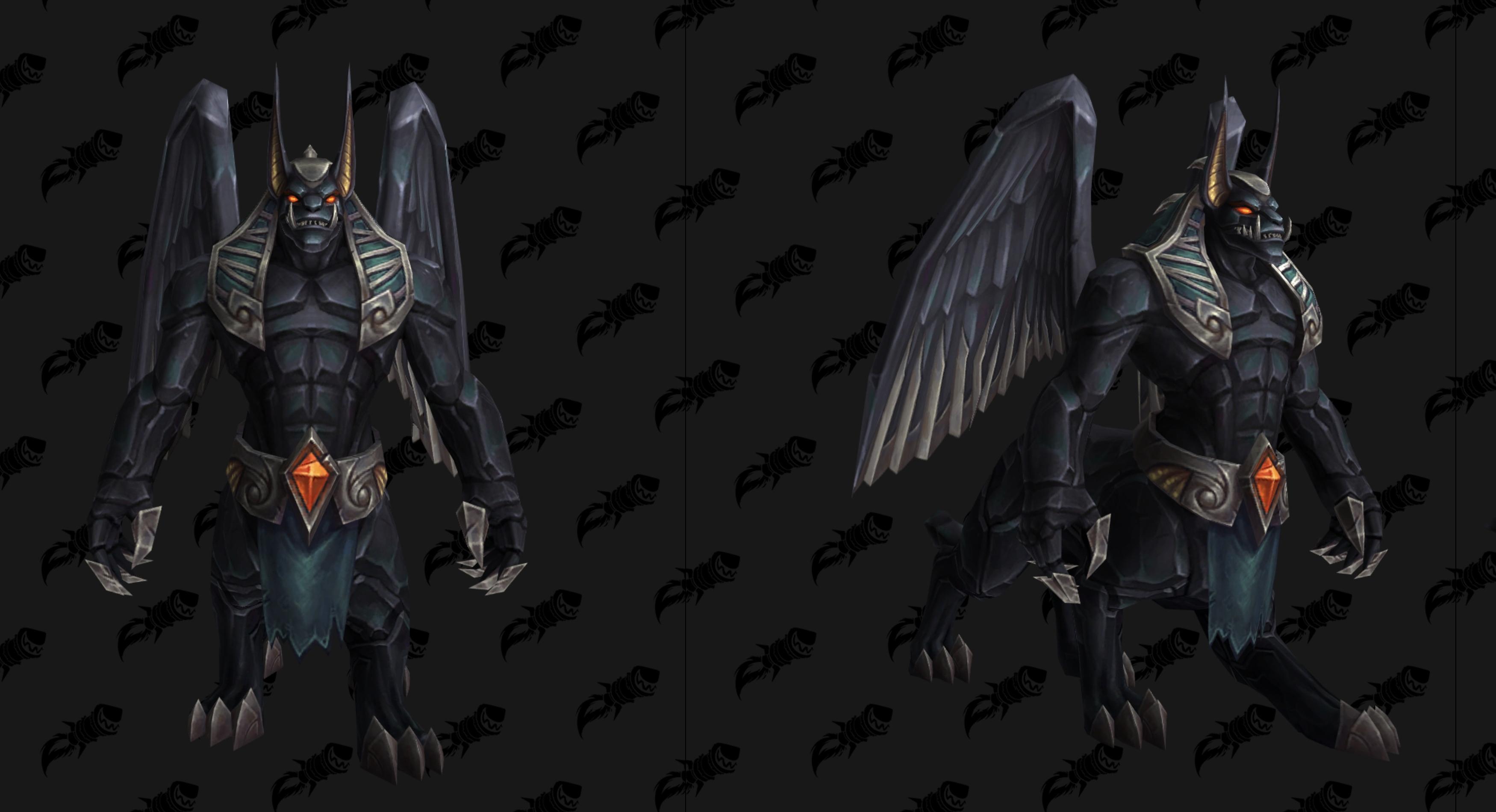 Nouveau modèle de Destructeur d'Obsidienne noir au patch 8.3 de BFA