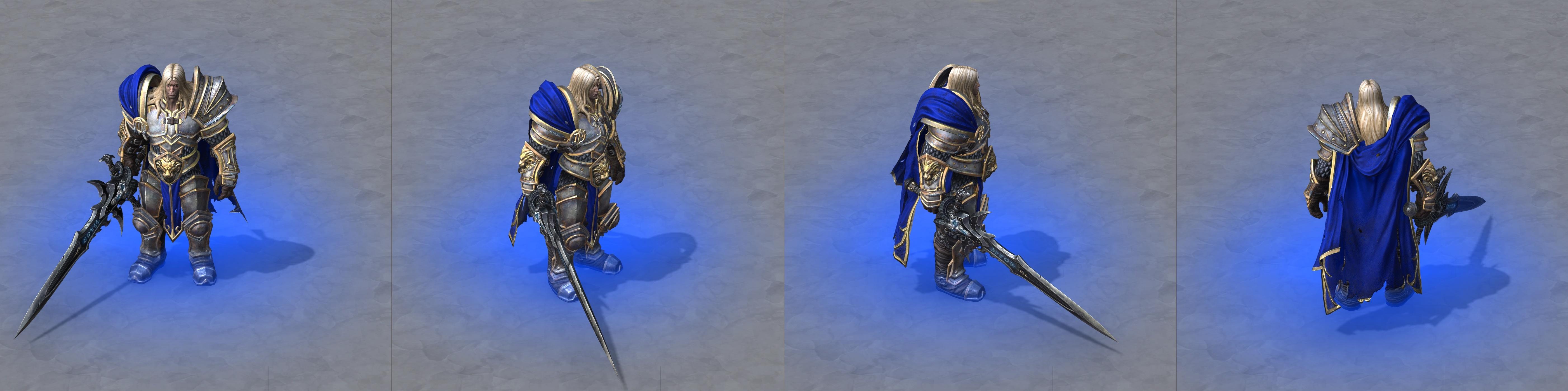 Warcraft III Reforged : Arthas avec Frostmourne