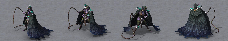 Warcraft III Reforged : modèle Elfe de la nuit gardienne