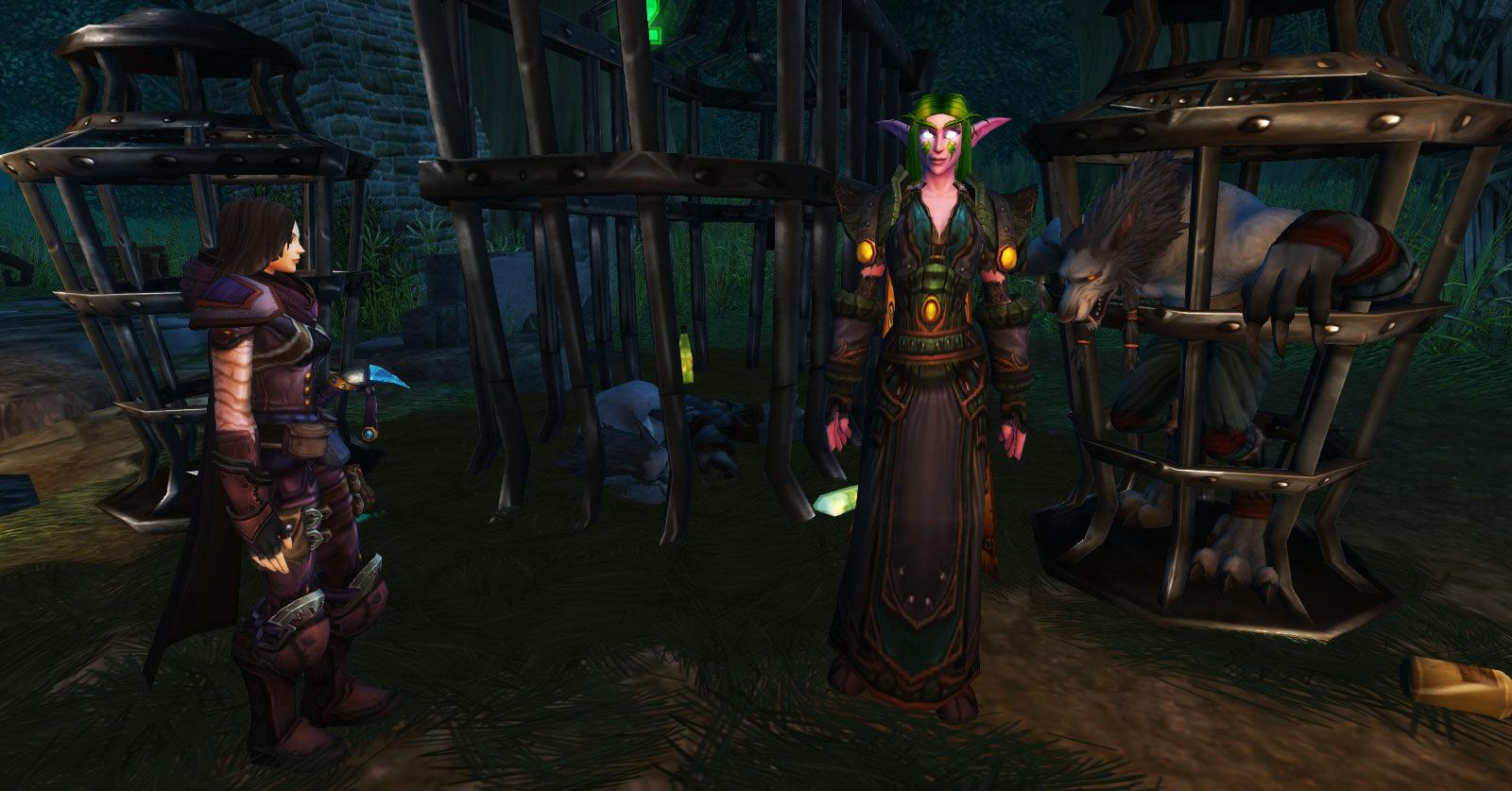 Accompagnez Tess auprès de Vassandra Grifforage dans le Bois de pénombre