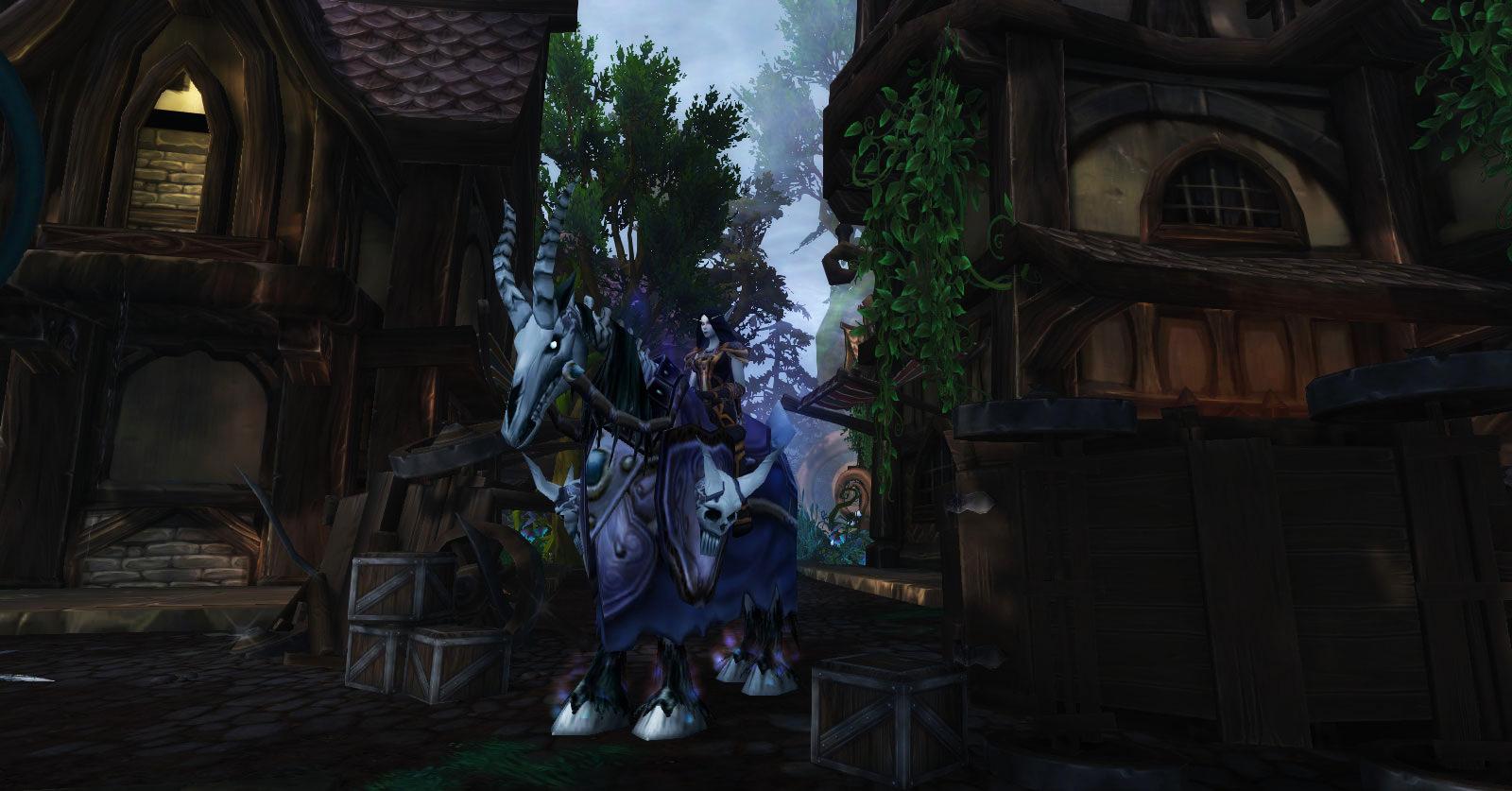 Forestier-sombre Thyala dans le Gilnéas du Rêve d'émeraude