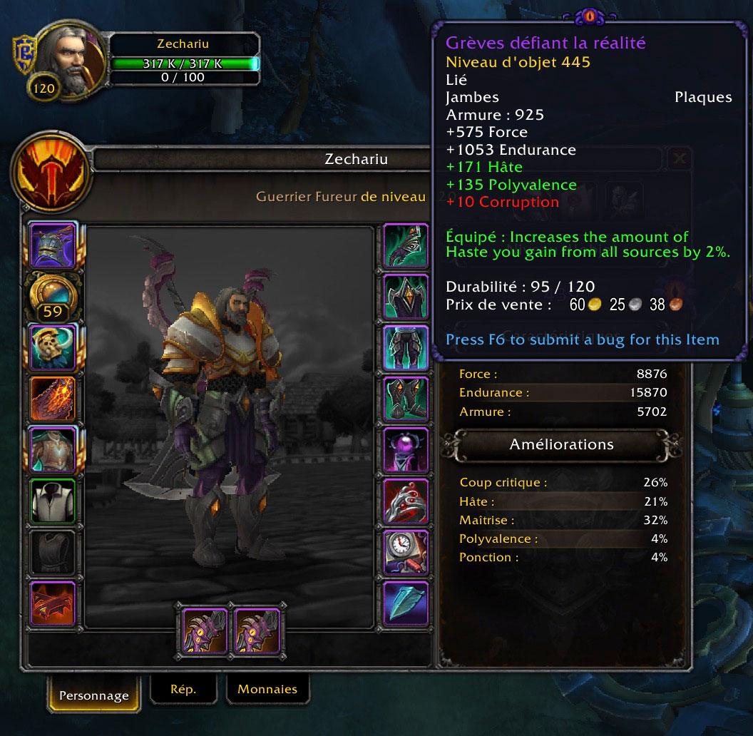 Les objets corrompus font leur apparition au patch 8.3