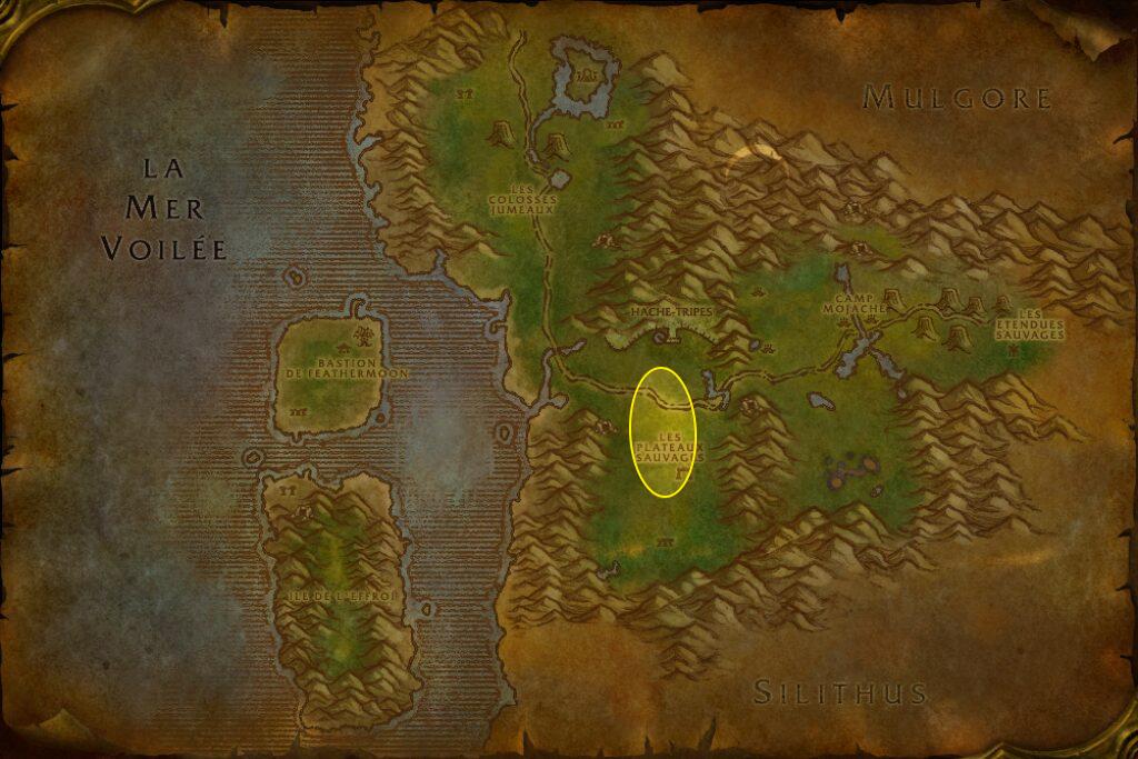 Zone où se trouve les Hurleurs des vallées.