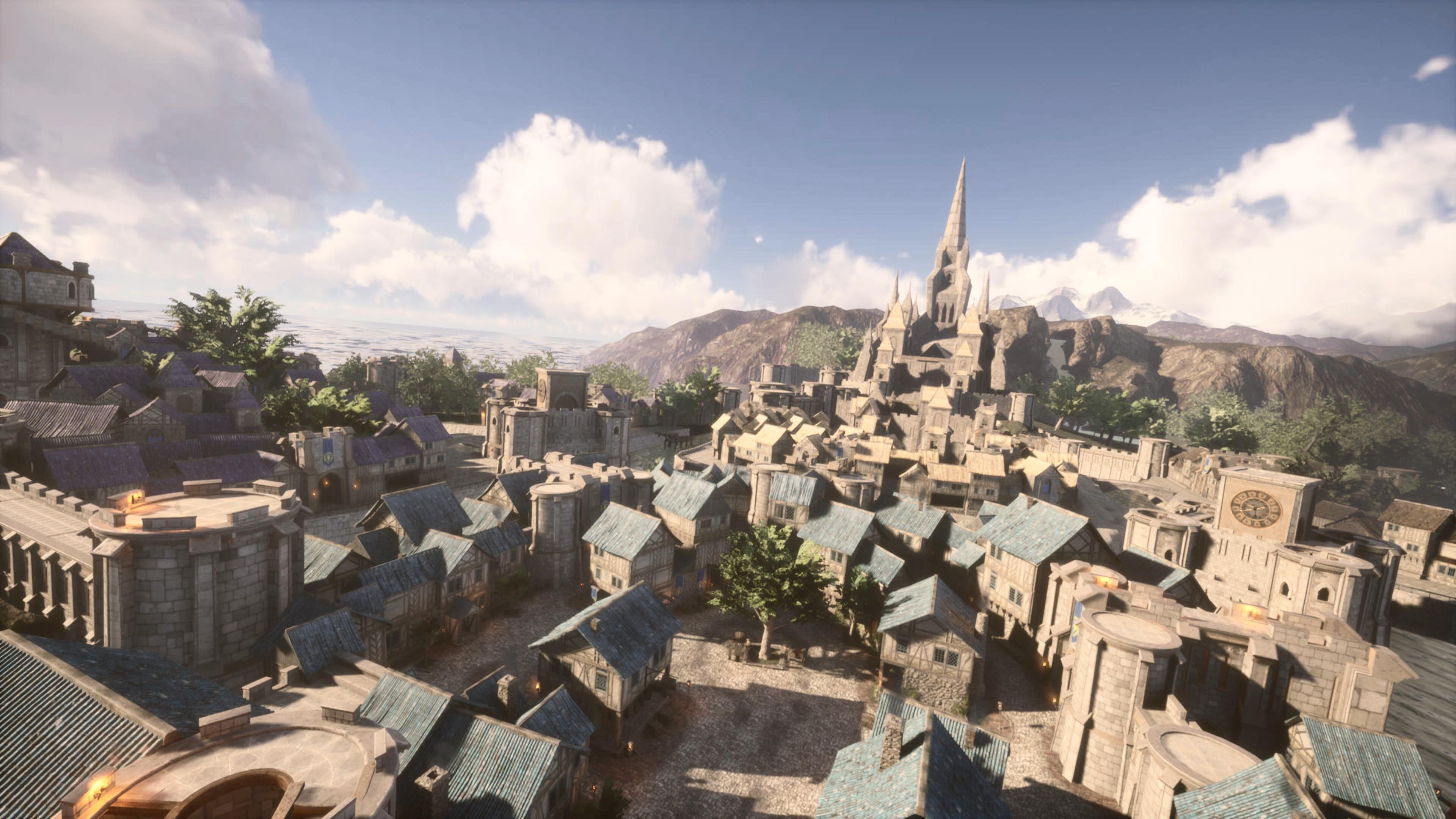 La capitale Hurlevent (Stormwind) réalisée avec Unreal Engine 4