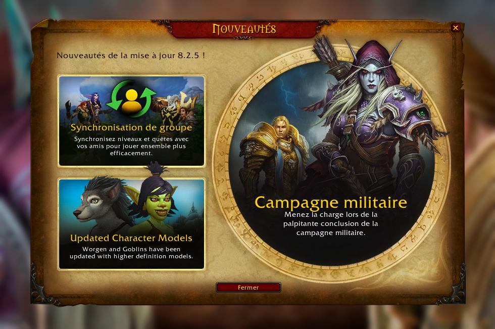 La campagne militaire se termine avec le patch 8.2.5