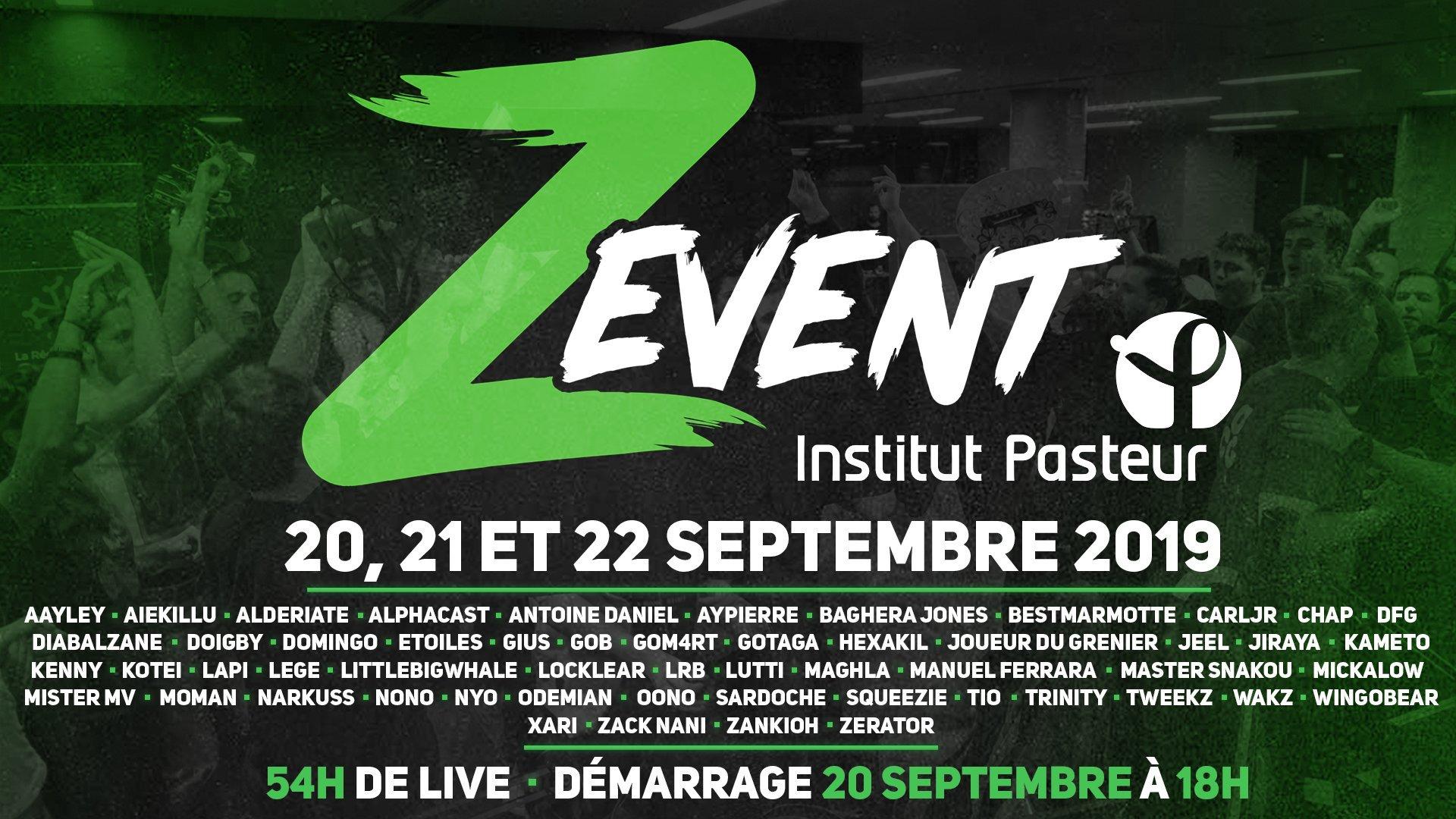 Z EVENT 2019 : du 20 au 22 septembre 2019