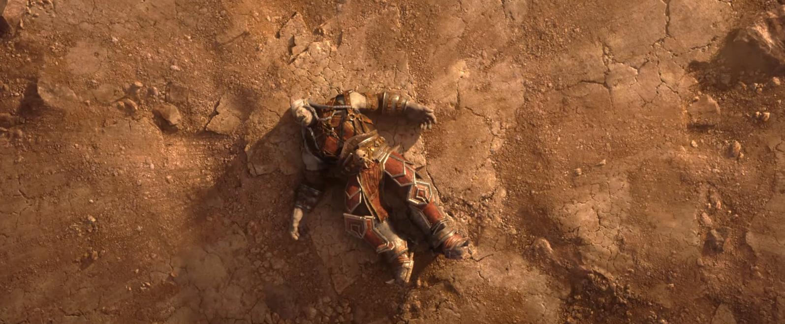 Sur le sol git le corps de Saurcroc tué par Sylvanas